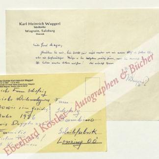 Waggerl, Karl Heinrich, Schriftsteller (1897-1973).