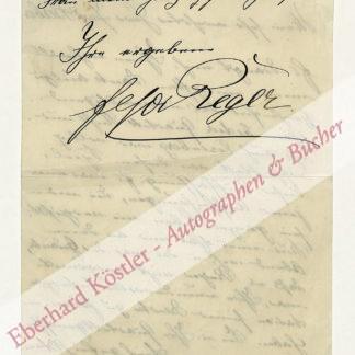 Reger, Elsa, Gattin Max Regers (1870-1951).