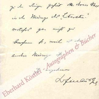 Hofmannsthal, Hugo von, Schriftsteller (1874-1929).