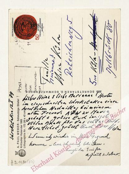 Weber, A(ndreas) Paul, Graphiker (1893-1980).