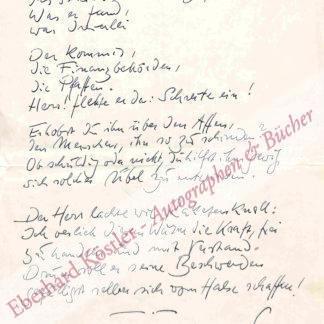 Leip, Hans, Schriftsteller (1893-1983).
