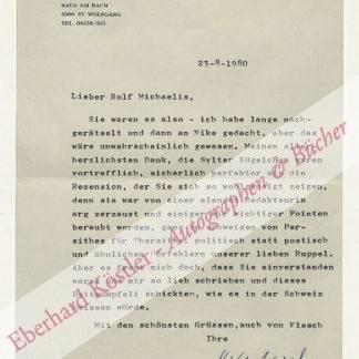 Spiel, Hilde, Journalistin, Schriftstellerin und Übersetzerin (1911-1990).