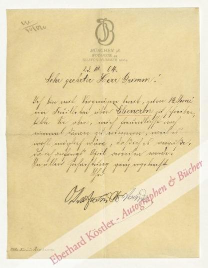 Liliencron -  Bierbaum, Otto Julius, Schriftsteller (1865-1910).
