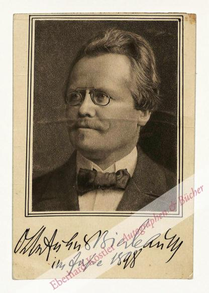 Bierbaum, Otto Julius, Schriftsteller (1865-1910).