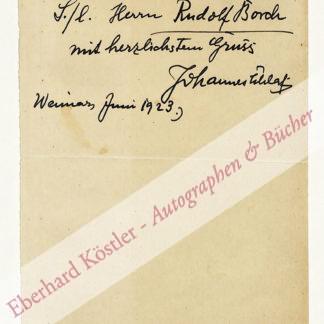 Schlaf, Johannes, Schriftsteller (1862-1941).