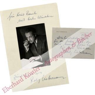 Liebermann, Rolf, Komponist und Intendant (1910-1999).