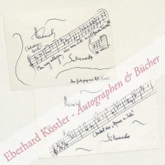 Sutermeister, Heinrich, Komponist (1910-1995).