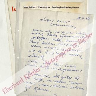 Reichert, Josua, Schriftkünstler (geb. 1937).