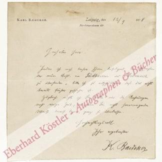 Baedeker, Karl, Verleger (1837-1911).