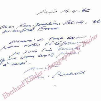 Beckett, Samuel, Schriftsteller (1906-1989).
