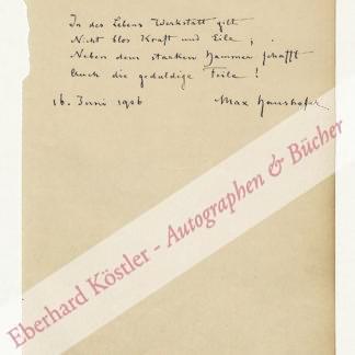 Haushofer, Max, Nationalökonom und Schriftsteller (1840-1907).