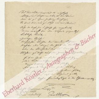 Lingg, Hermann, Dichter und Arzt (1820-1905).