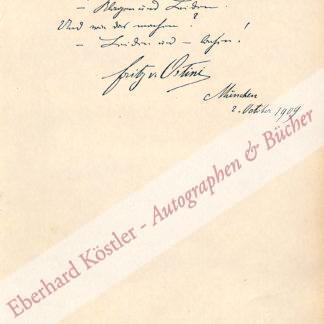 Ostini, Fritz von, Schriftsteller (1861-1927).