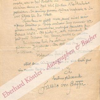 Scheffer, Thassilo von, Schriftsteller (1873-1951).