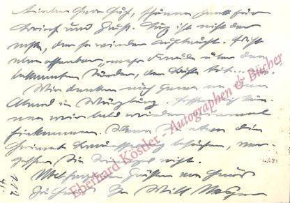 Vesper, Will, Schriftsteller (1882-1962).