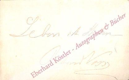 Voss, Richard, Schriftsteller (1851-1918).