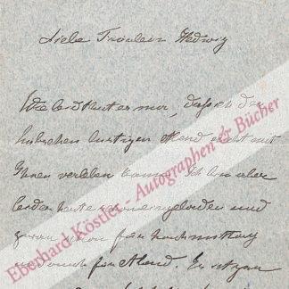 Böhlau, Helene, Schriftstellerin (1856-1940).