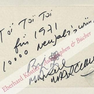 Marceau, Marcel, Pantomime und Lithograph (1923-2007).