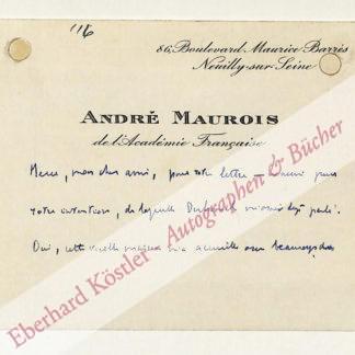 Maurois, André, Schriftsteller (1885-1967).