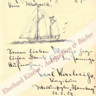 Kircheiß, Carl, Weltumsegler und Polarforscher (1887-1953).