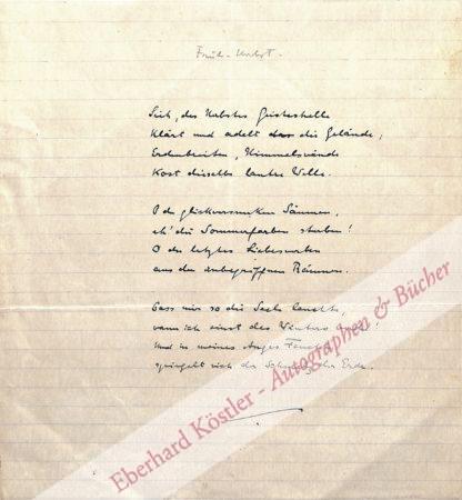 Morgenstern, Christian, Schriftsteller (1871-1914).
