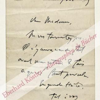 Clemenceau, George, Staatsmann und französischer Premierminister (1841-1929).