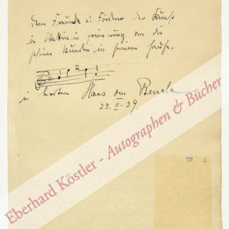 Benda, Hans von, Dirigent (1888-1972).
