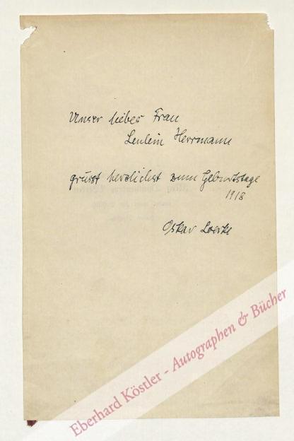 Loerke, Oskar, Schriftsteller (1884-1941).