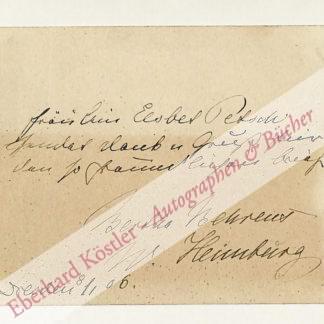 Behrens, Bertha, Schriftstellerin (1848-1912).