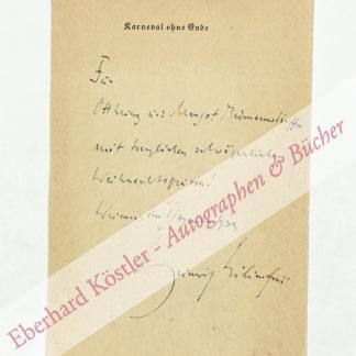 Lilienfein, Heinrich, Schriftsteller (1879-1952).