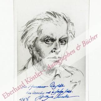 Unruh, Fritz von, Schriftsteller (1885-1970).