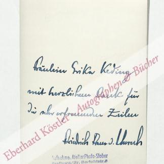 Unruh, Friedrich Franz von, Schriftsteller (1893-1986).