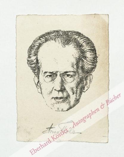 Holz, Arno, Schriftsteller (1863-1929).
