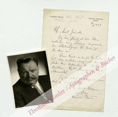 Bruun, Laurids, Dänischer Schriftsteller (1864-1935).