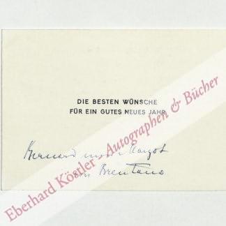 Brentano, Bernhard von, Schriftsteller (1901-1964).