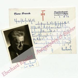 Franck, Hans, Schriftsteller (1879-1964).