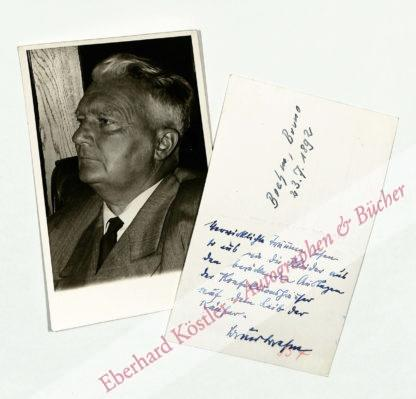 Brehm, Bruno, Schriftsteller (1892-1974).