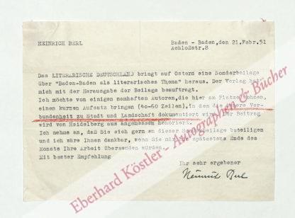 Berl, Heirich, Schriftsteller (1896-1953).
