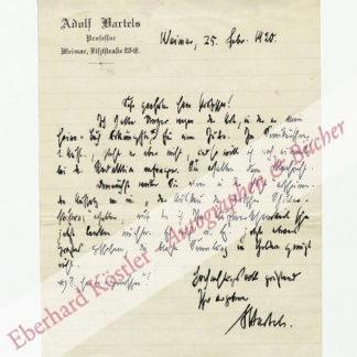Bartels, Adolf, Schriftsteller (1862-1945).