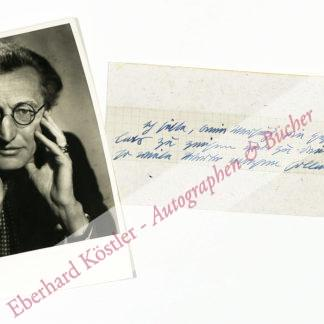 Penzoldt, Ernst, Schriftsteller, Bildhauer und Zeichner (1892-1955).