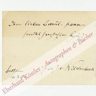 Wildenbruch, Ernst von, Schriftsteller und Diplomat (1845-1909).