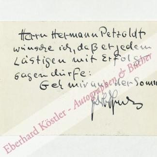 Tjadens, Herbert, Schriftsteller (1897-1981).