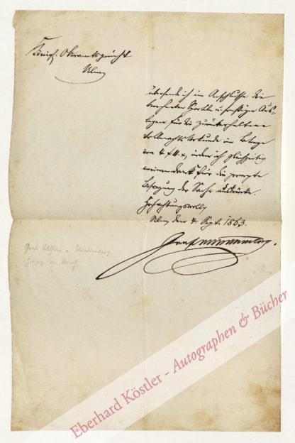 Württemberg -  Wilhelm I. von Urach, Graf von Württemberg (1810-1869).