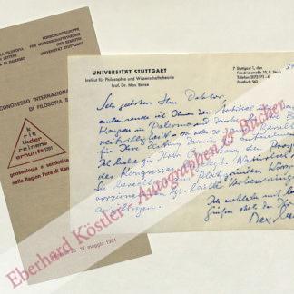 Bense, Max, Schriftsteller, Mathematiker und Philosoph (1910-1990).