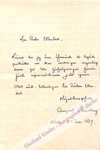 Strindberg, August, Schriftsteller (1849-1912).