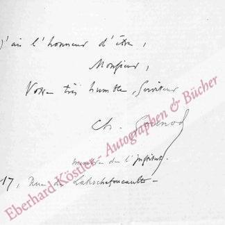 Gounod, Charles, Komponist (1818-1893).
