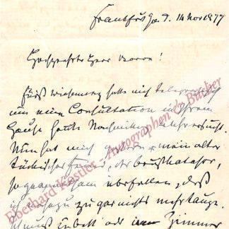 """Hoffmann, Heinrich, Nervenarzt und Verfasser des """"Struwwelpeter"""" (1809-1894)."""
