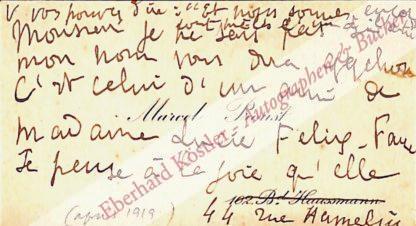 Proust, Marcel, Schriftsteller (1871-1922).