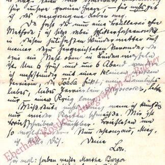 Andreas-Salomé, Lou, Schriftstellerin und Muse von Nietzsche, Rilke und Freud (1861-1937).