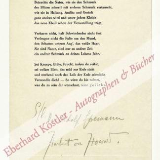 Hoerner, Herbert von, Maler und Schriftsteller (1884-1950).